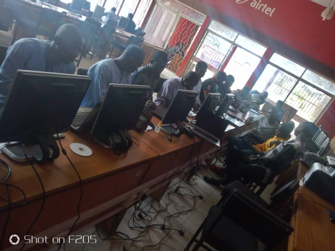 First day,Icitify monthly ICT training, July 2019.