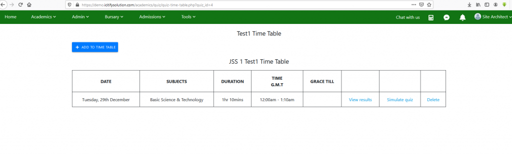 quiz-ready-time-table